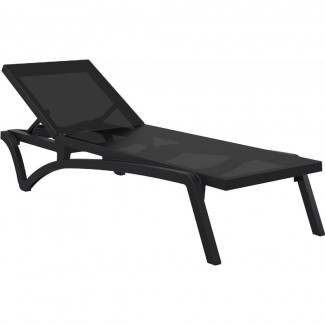 Pacific Sling Stackable Commercial Chaise Lounge