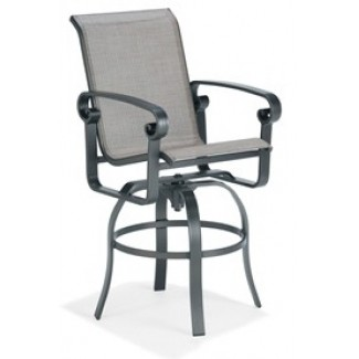 Palazzo Sling Swivel Bar Stool with Arms M4693