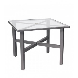 Palm Coast Elite 36 Inch Dining Table With Clear Glass