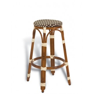 Paris Rattan Backless Bar Stool