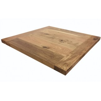 Planked White Oak Restaurant Table Top - 36 Square