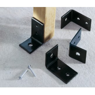 Powder Coated Bench Anchors - Set of 4