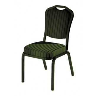 Como Curved Back Aluminum Stacking Side Chair with Handgrip