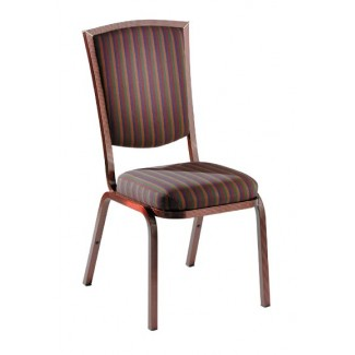 Como Traditional High Back Aluminum Stacking Side Chair