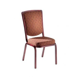 Como Traditional Back Aluminum Stacking Side Chair