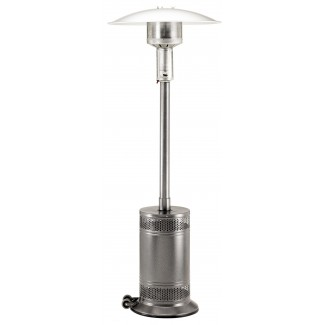 Propane Patio Heater Jet/Silver Vein with Push Button Ignition PC02J