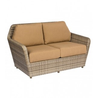 Pueblo S563021 Modern Outdoor Hotel Pool Lounge Commercial Woven Upholstered Loveseat