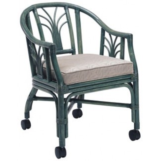 Rattan Arm Chair with Casters RA-634UR