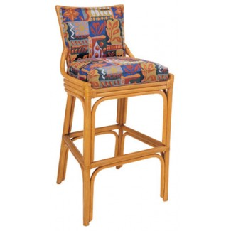 Rattan Bar Stool with Picture Back BS-401UR