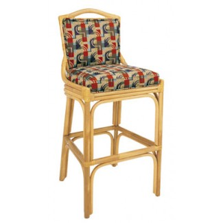 Rattan Bar Stool with Picture Back BS-403UR