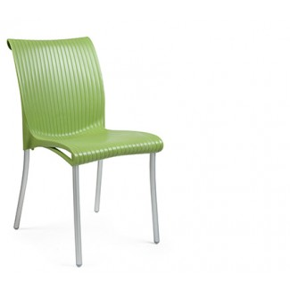 Regina Stacking Restaurant Side Chair in Green Apple