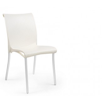 Regina Stacking Resin Side Chair - Ivory