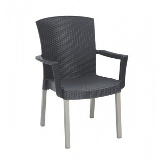 Havana Grosfillex Stacking Arm Chair