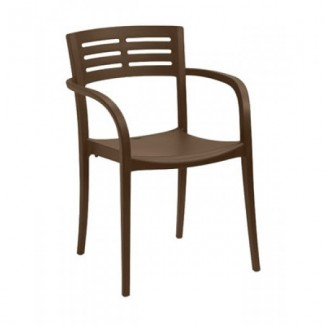 Restaurant Hospitality Outdoor Chairs Vogue Stacking Arm Chair