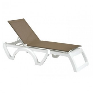 Restaurant Hospitality Poolside Furniture Calypso Adjustable Sling Chaise Lounge