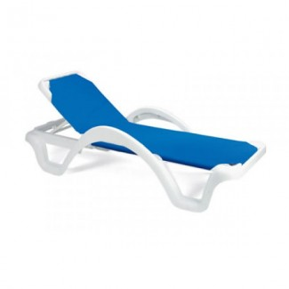 Restaurant Hospitality Poolside Furniture Catalina Chaise Lounge With Arms - Solid Color