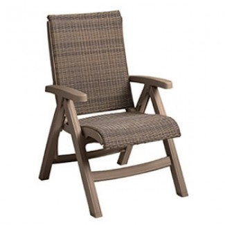Restaurant Hospitality Poolside Furniture Java All-Weather Wicker Folding Chair