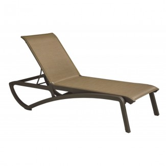 Restaurant Hospitality Poolside Furniture Sunset Chaise Lounge - Cognac / Bronze