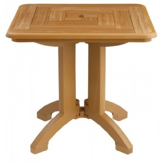 "Atlantis Grosfillex 32"" Square Folding Table"