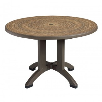 "Havana Grosfillex 48"" Round Table"