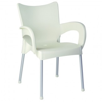 Romeo Stacking Resin Arm Chair - Beige