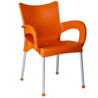 Romeo Stacking Restaurant Arm Chair in Orange