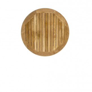 Restaurant Table Tops 32 Inch Round Teak Slat