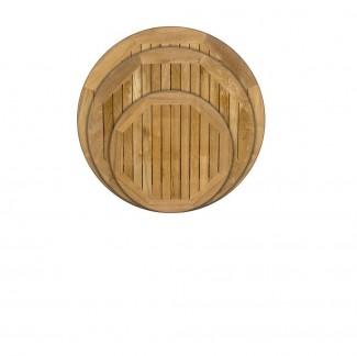 Round Teak Outdoor Hospitality Restaurant Table Top - 24""