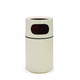 Round Fiberglass Trash Can with Fiberglass Liner