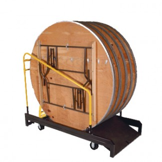 "Round Table Truck for 66"" Round (8 Capacity)"