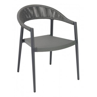 RP-01A Woven Aluminum Modern Transitional Traditional Outdoor Stackable Restaurant Arm Chair.
