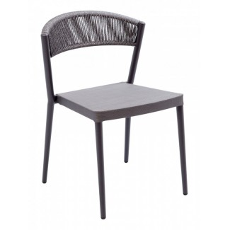 RP-01S Woven Aluminum Modern Transitional Traditional Outdoor Stackable Restaurant Side Chair