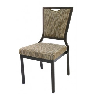 Salon High Back Aluminum Nesting Side Chair with Handgrip