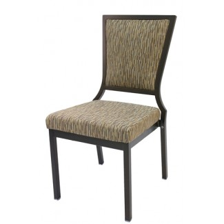 Salon High Back Aluminum Nesting Side Chair