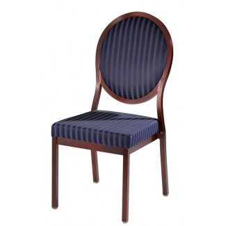 Salon Oval Back Aluminum Nesting Side Chair