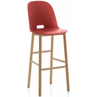 Schoolhouse Chic Restaurant Hospitality Seating Alfi High Back Bar Stool