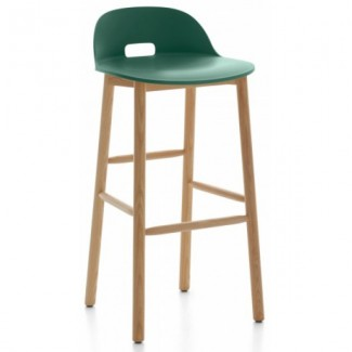 Schoolhouse Chic Restaurant Hospitality Seating Alfi Low Back Bar Stool