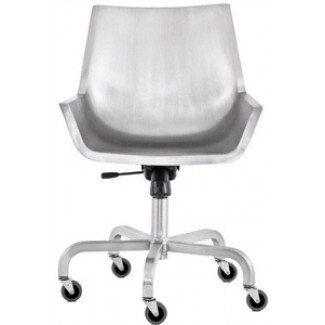 Sezz Aluminum Swivel Chair with Casters