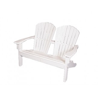 Shell Back Adirondack Love Seat