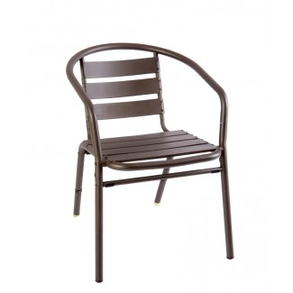 Shoreditch Stacking Aluminum Arm Chair