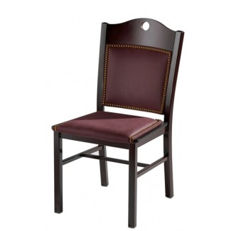 Side Chair with Steel Frame and Upholstered Seat and Back 982-UB