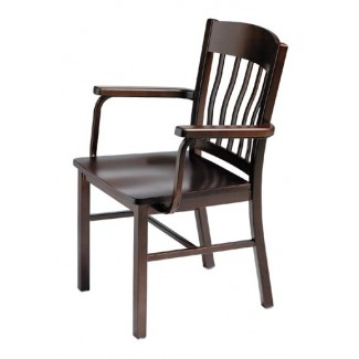 Side Chair with Steel Frame and Wood Seat 981-AR