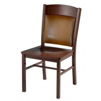 Side Chair with Steel Frame, Wood Seat and Upholstered Back 981-UB
