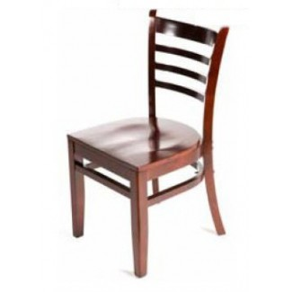Solid Wood Ladder Back Dining Chairs - Mahogany WC101-MH