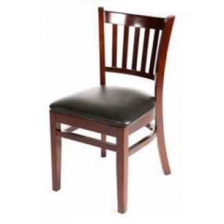 Solid Wood Vertical Back Dining Chair - Mahogany WC102-MH