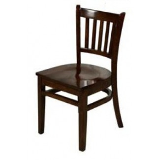 Solid Wood Vertical Back Dining Chair - Walnut WC102-WA