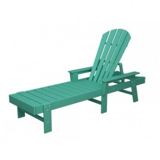 Polywood resin patio furniture south beach adirondack for Adirondack chaise lounge
