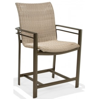Southern Cay Woven Stationary Balcony Height Stool