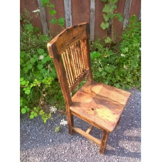 Speakeasy Reclaimed Wood Bar Chair