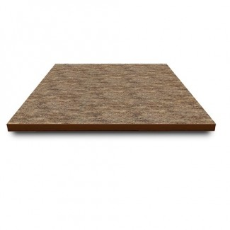 "30"" Square Laminate Table Top with Overlay Wood Edge"